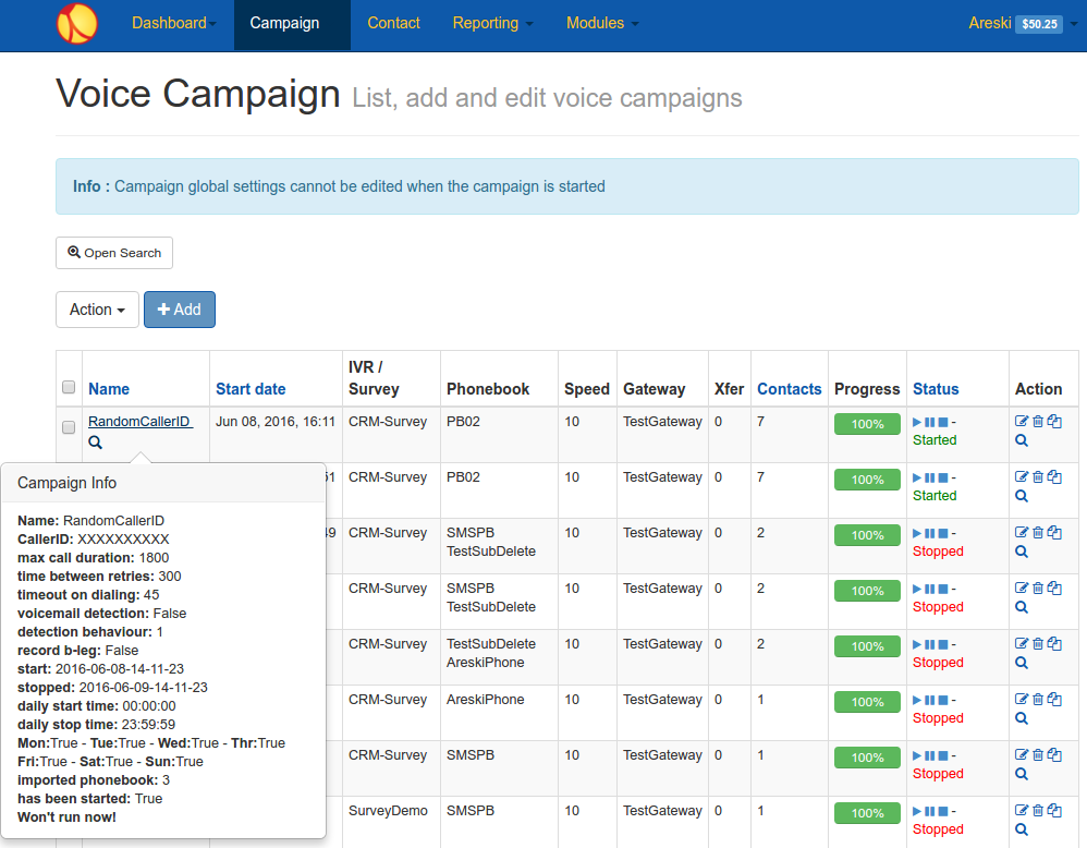 campaign List v3.6