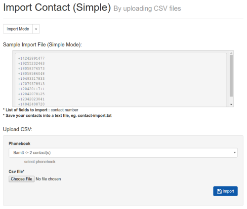 Simple Contact Import
