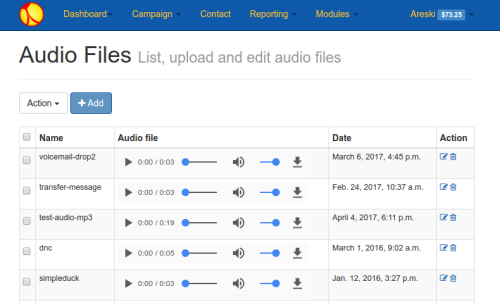 newfies-Dialer audio-upload player