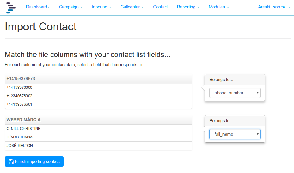Import Contact Associated Fields